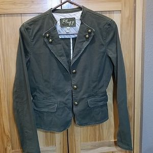 S Distressed Army Green PLUGG Tailered Jacket